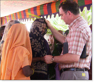 Rick Hutchison ministers in India